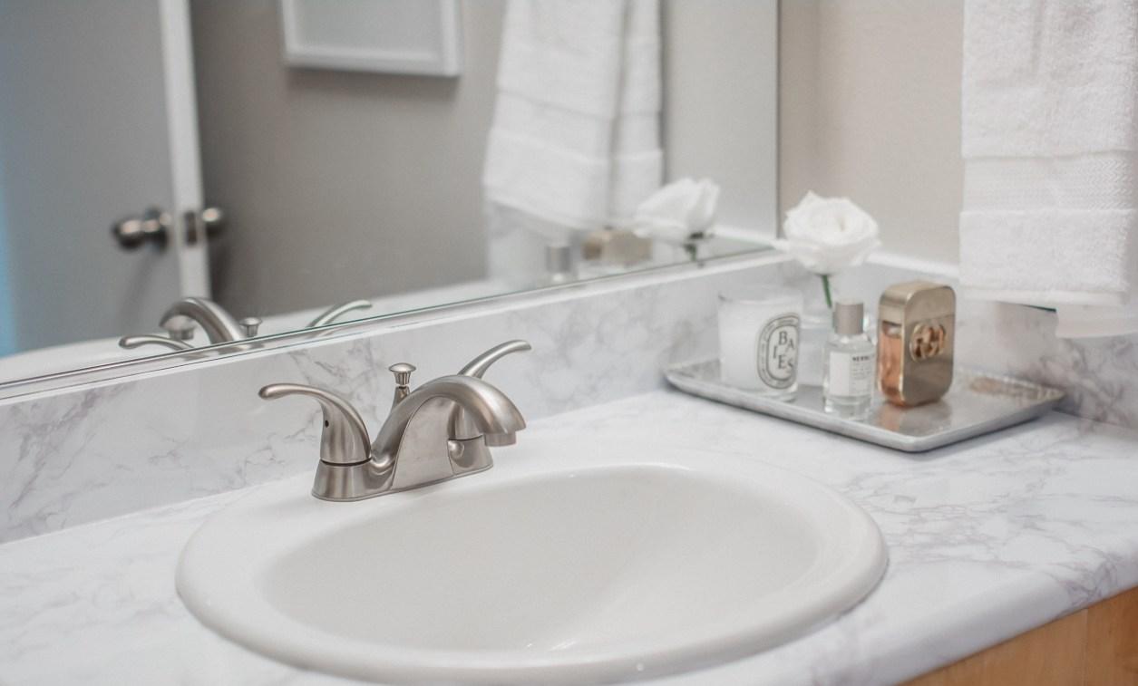 DIY Bathroom Marble Contact Paper