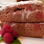 Refreshing Raspberry Pomegranate Cake