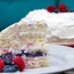 Patriotic Lemon Lime Coconut Cake