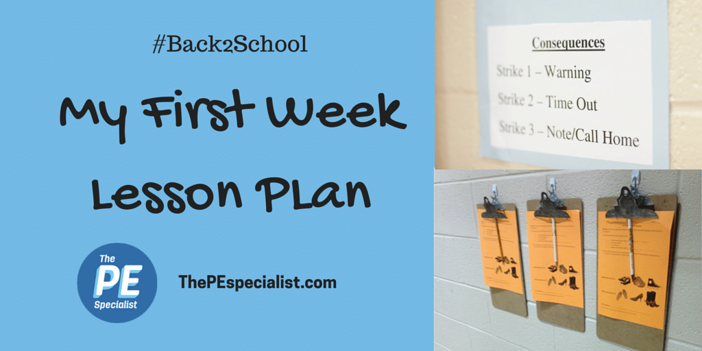 My First Week of School Lesson Plan