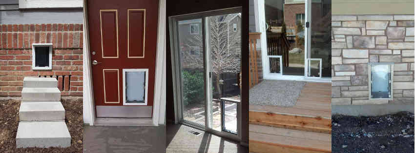 Sliding Glass Patio Dog Doors In Denver And The Front
