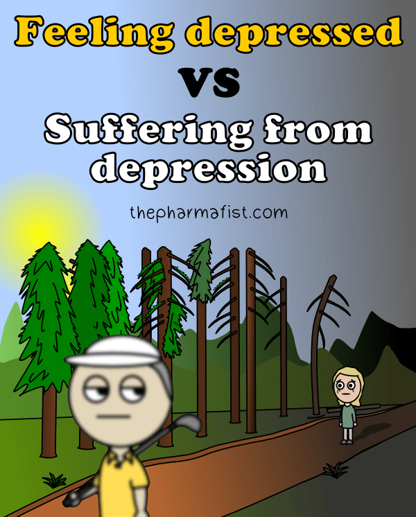 Feeling depressed VS Suffering from depression (title)