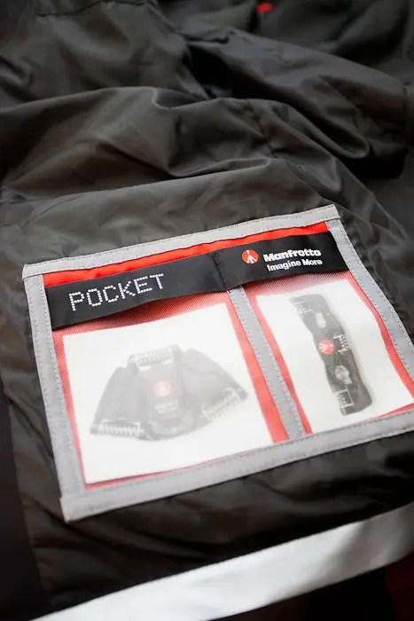 Pockets inside designed specifically for Manfrotto Pocket Tripods