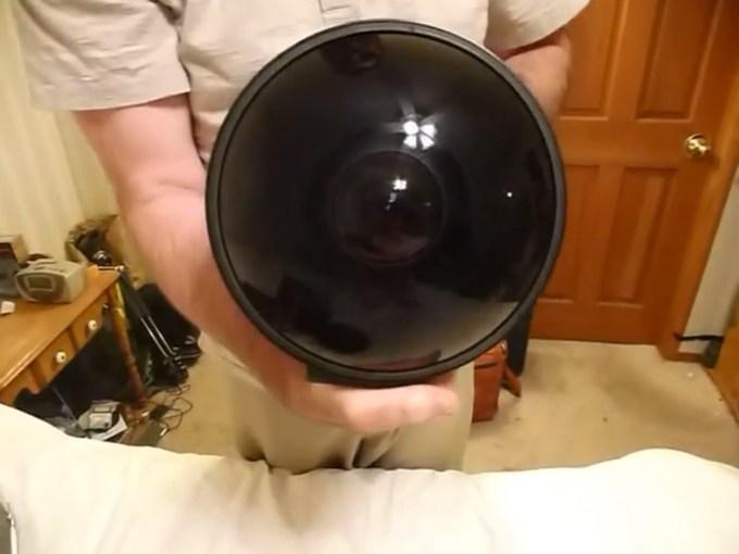 Nikon 6mm f2.8 Ai Fisheye Lens Unboxing Video Screengrab
