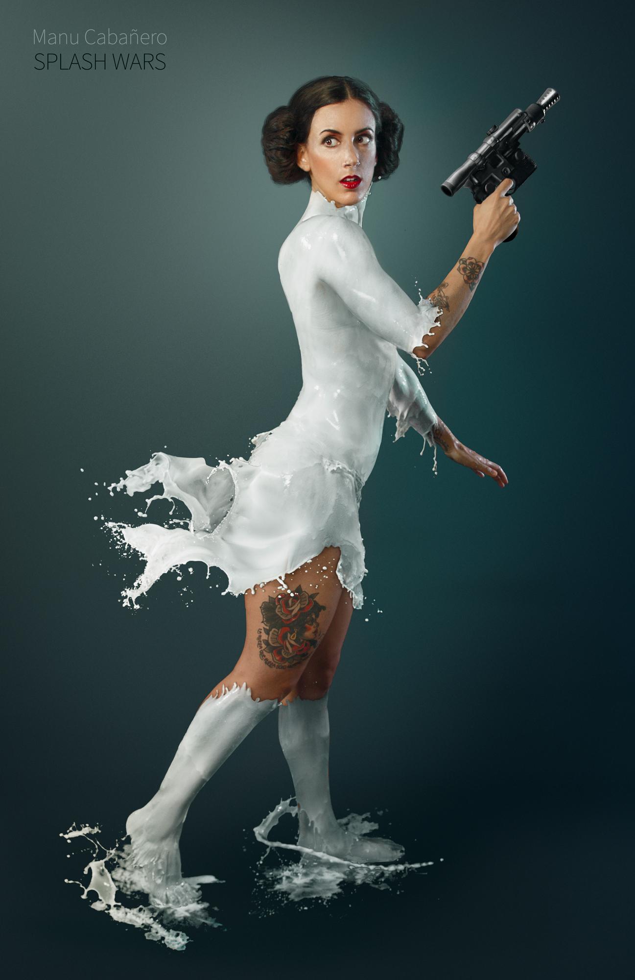 Splash Wars Creates Star Wars Characters Using Milk and Models