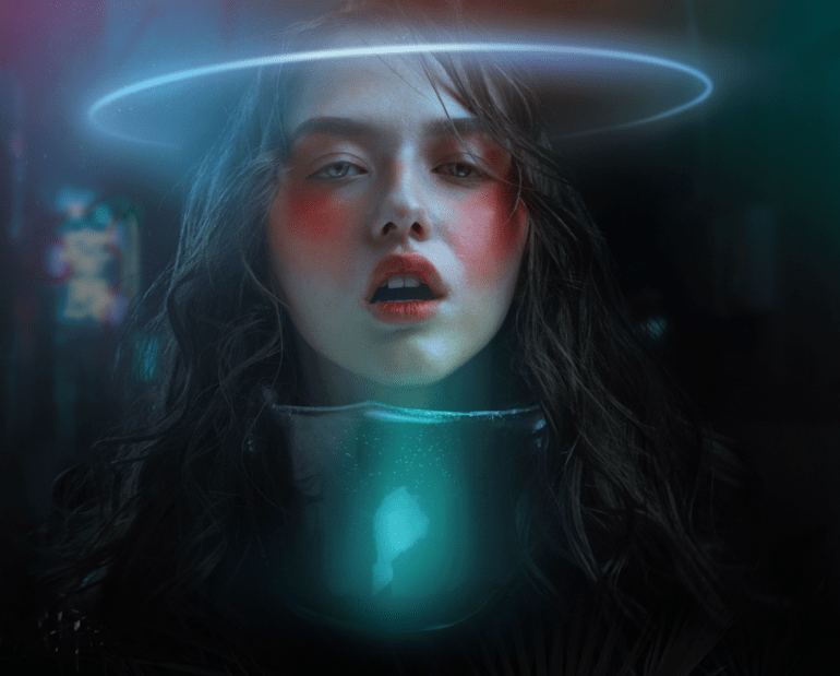 Glowing Girl Wallpaper Alexander Berdin Lazursky S Futuristic Fashion Shines In
