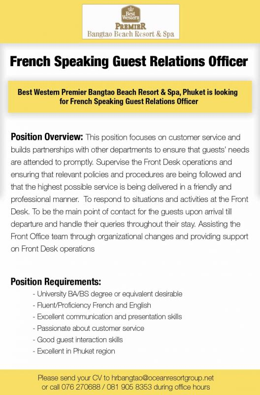 Guest relations officer sample resume SOURCES-MAJORITYGA - guest relation officer sample resume