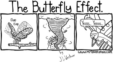 A funny comic about the butterfly effect