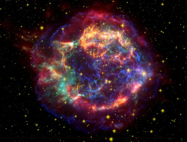 Cassiopeia A Spitzer Image