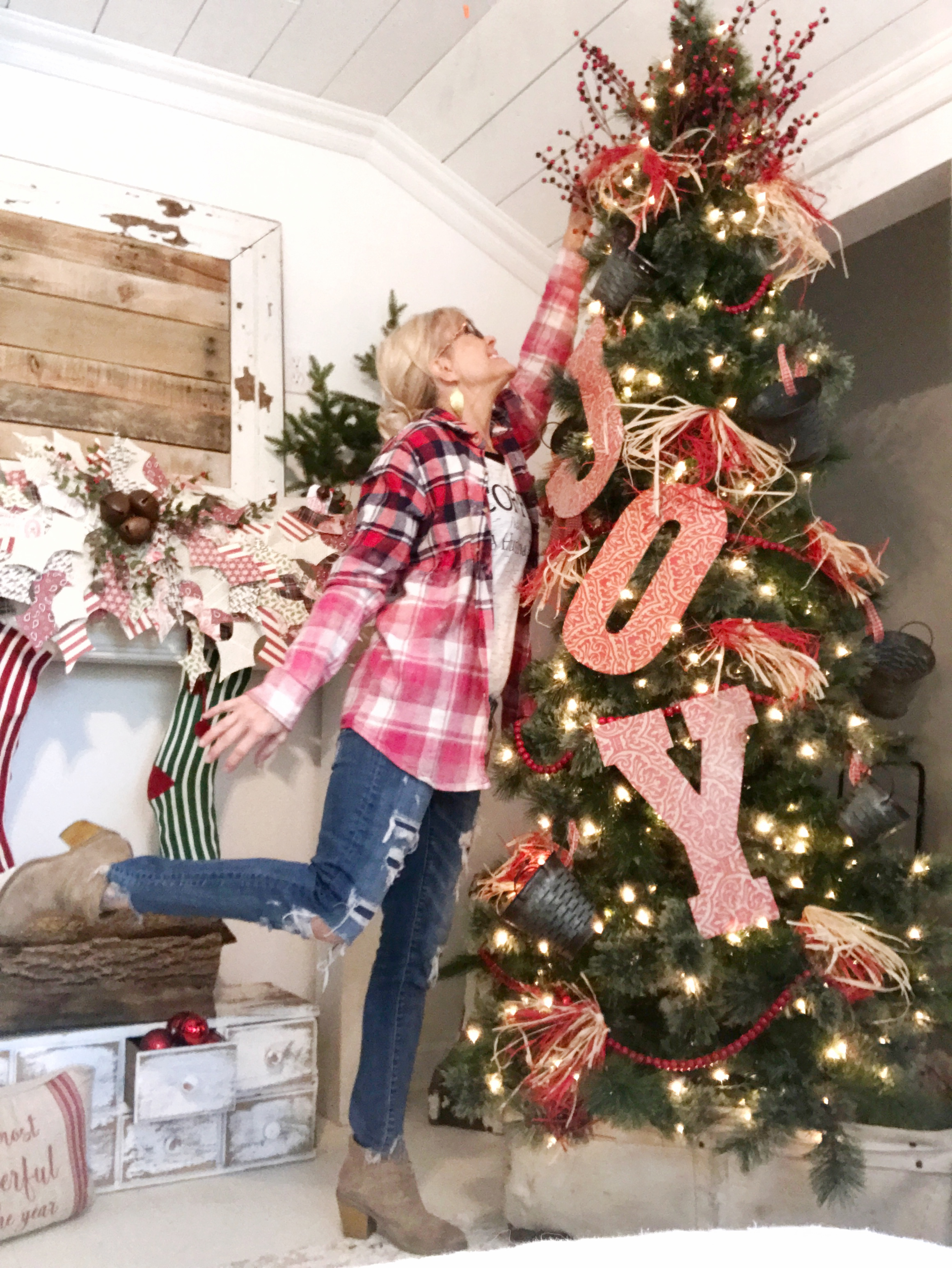 Garage Hobby Lobby Pickled Rose Decorations On Mytree This Year Represent My Things Can Be Easily Found At A Farmhouse Items That I Love To Surround Myself curbed Hobby Lobby Christmas Decorations