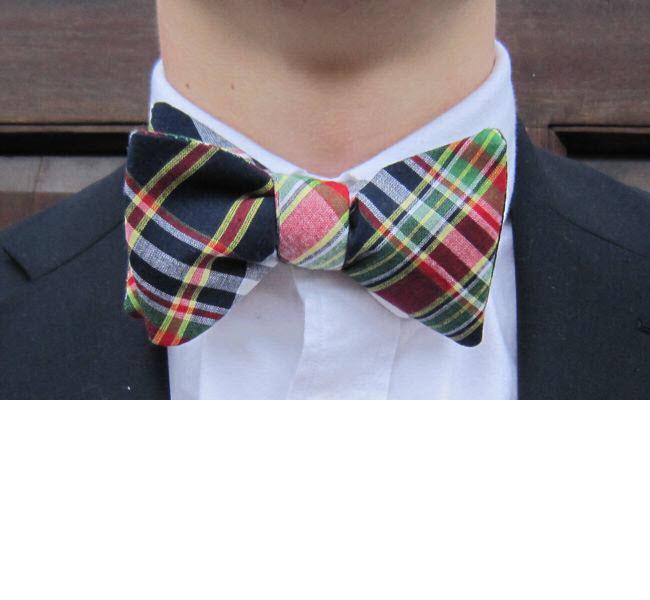 monogrammed bow tie
