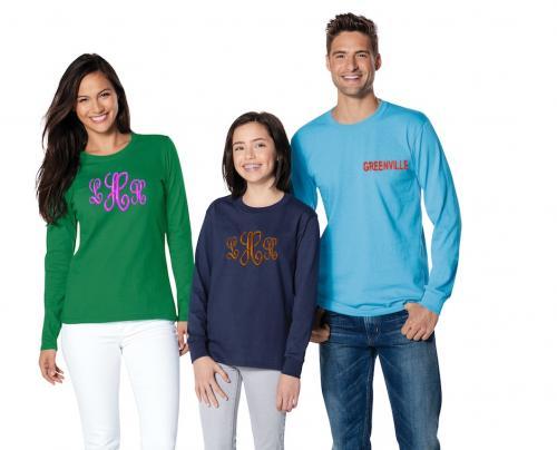 monogrammed oversized shirts