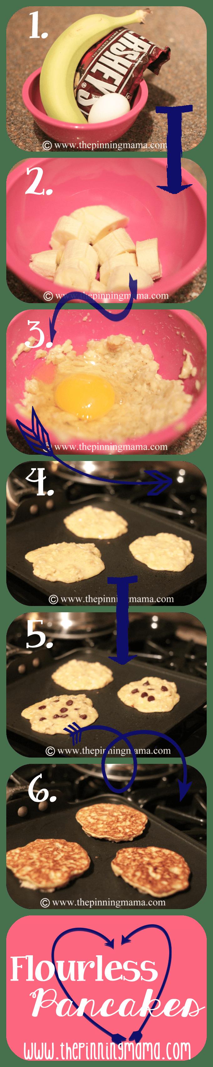 Flourless Pancakes by www.thepinningmama.com