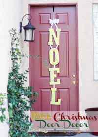 NOEL Easy Christmas Door Decorations  The Pinning Mama