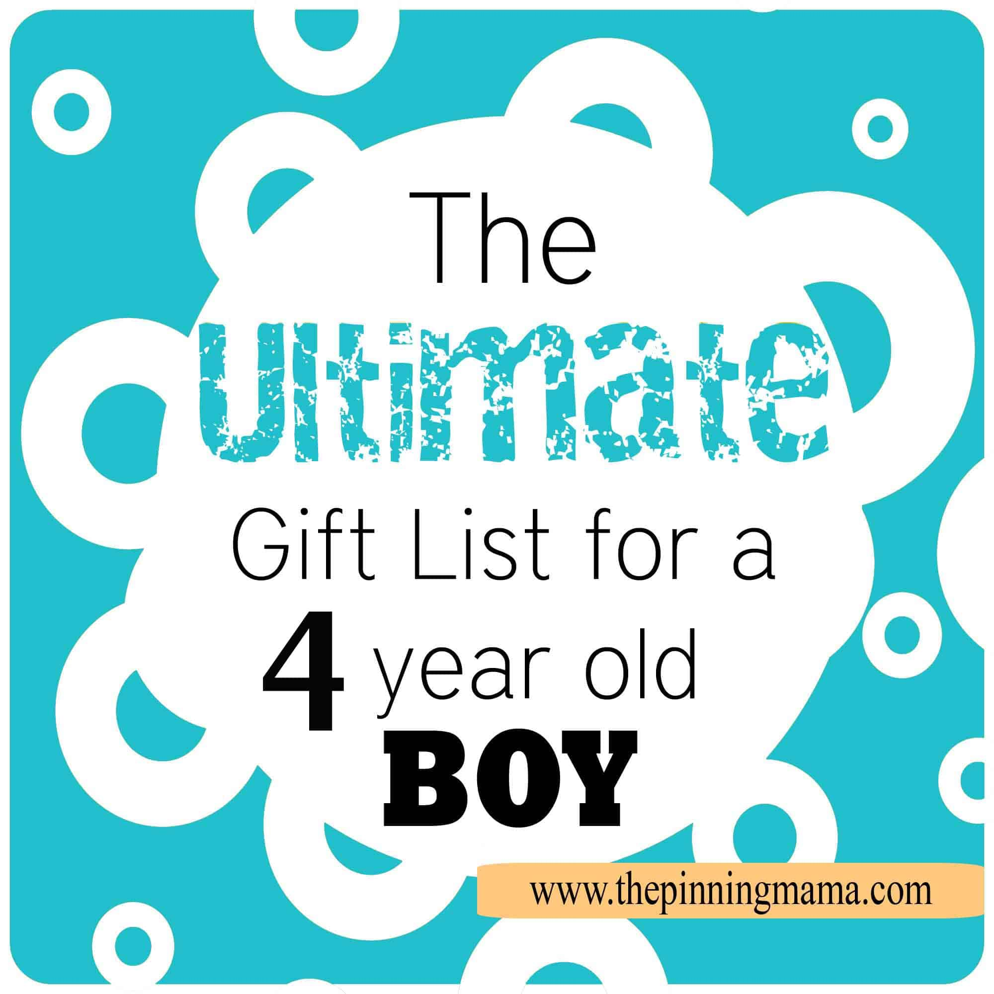 Birthday Gift Ideas For 4 Year Old Boy
