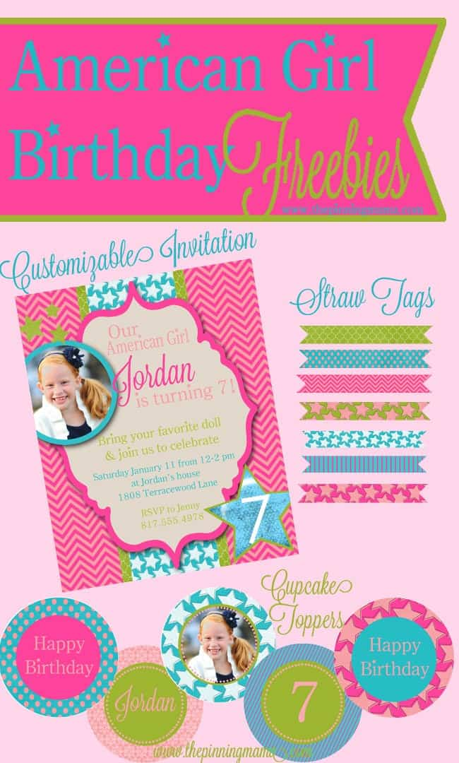 American Girl Birthday Free Printables + Silhouette Sale \u2022 The