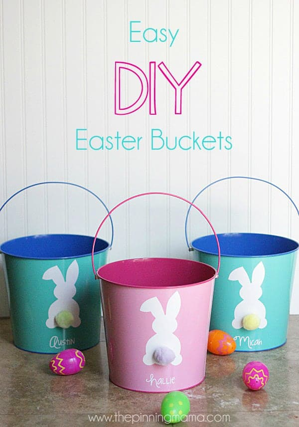 Easy DIY Easter Bucket with FREE Silhouette Cut File u2022 The Pinning - free lined paper to print