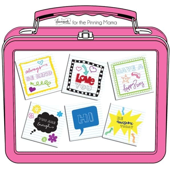 Free Printable Lunch Box Notes \u2022 The Pinning Mama