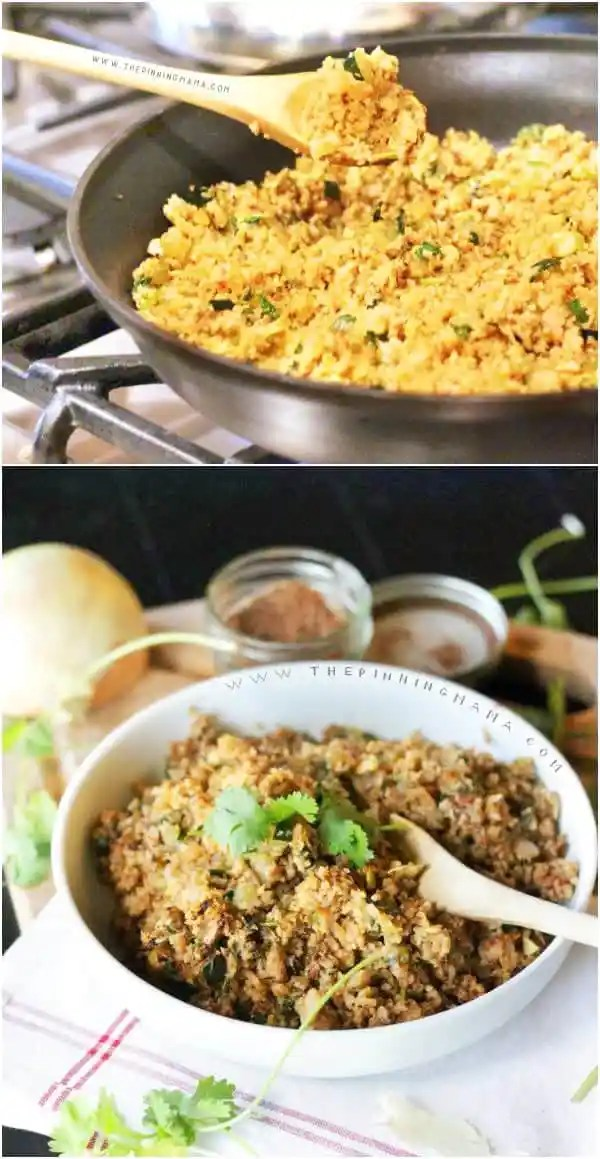 Mexican Cauliflower Rice recipe- This is SO GOOD! Plus, Paleo & Whole30 compliant!