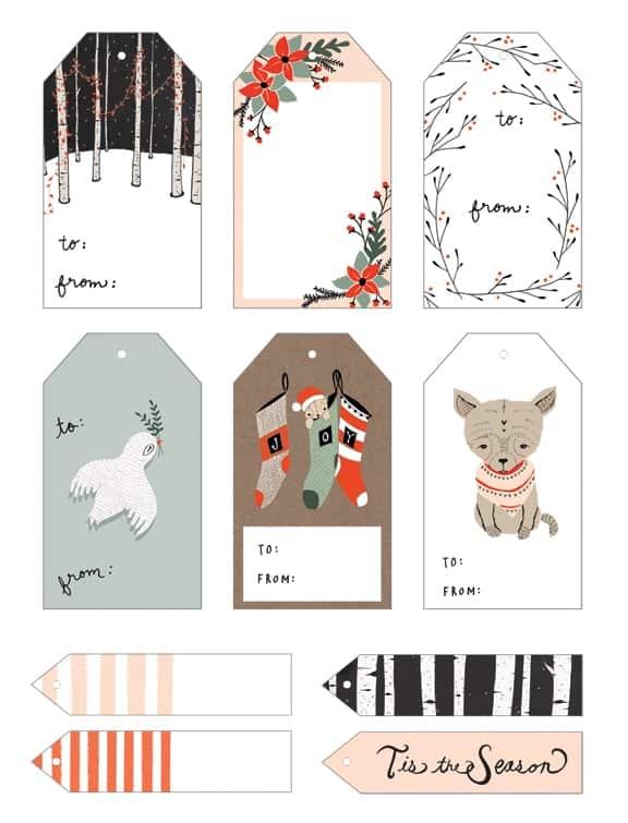 20 Free Printable Christmas Gift Tags \u2022 The Pinning Mama