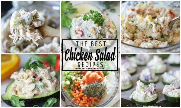 So many CHICKEN SALAD recipes and they are all rated 5 stars and so delicious! Everyone in the comments is raving about these! Ranch Chicken Salad, Fajita Chicken Salad and even Classic Chicken Salad! So many great recipes!