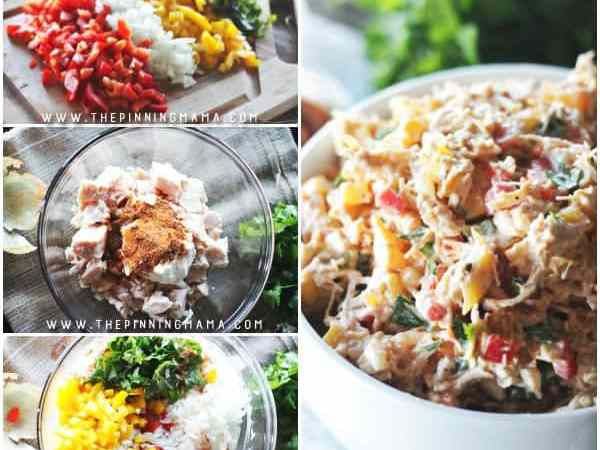 Barbecue Chicken Salad recipe - This recipe is naturally paleo, gluten free, dairy free and whole30 compliant but you will love it whether you are on a diet or not because it is absolutely DELICIOUS! It is a fast and easy recipe to make and is the perfect lunch or summer dish.
