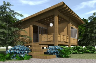 1 Bedrm, 456 Sq Ft Modern House Plan #116-1013