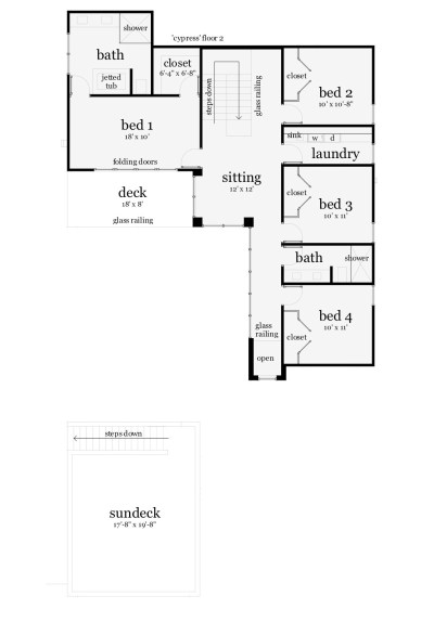 House Plan #116-1081 : 4 Bedroom, 2652 Sq Ft Modern - Beachfront Home | TPC