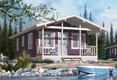 Small House Plans - Vacation Home Design DD-1905