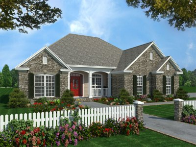 3 Bedrm, 1600 Sq Ft Acadian House Plan #141-1231
