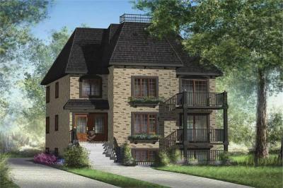 Multi-Level, Multi-Unit House Plans - Home Design PI-40343 ...