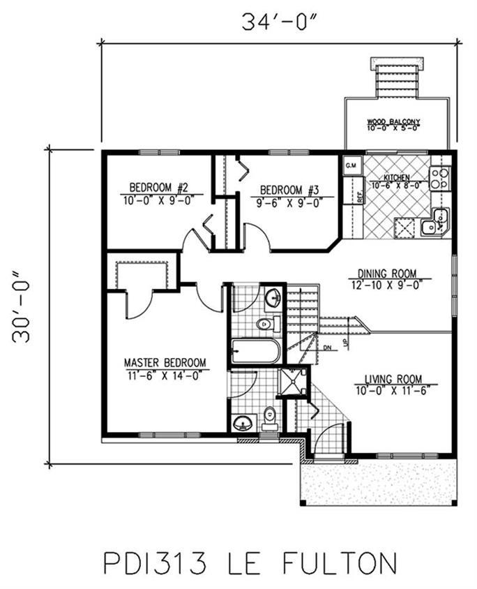 Small, Bungalow House Plans - Home Design PDI312 - bungalow floor plans