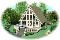 A Frame House Plan - 0 Bedrms, 1 Baths - 734 Sq Ft - #170-1100