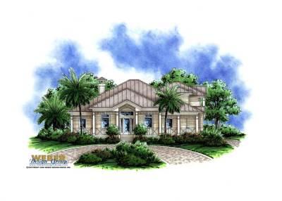 Florida Style House Plan - 4 Bedrms, 3.5 Baths - 3020 Sq ...