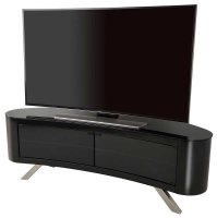 AVF Bay Curved TV Stand in Black