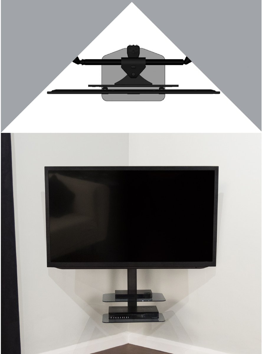 Avf Zsl5502 Cornermount Tv Wall Brackets