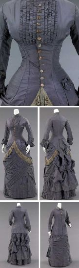 grey simple dress...