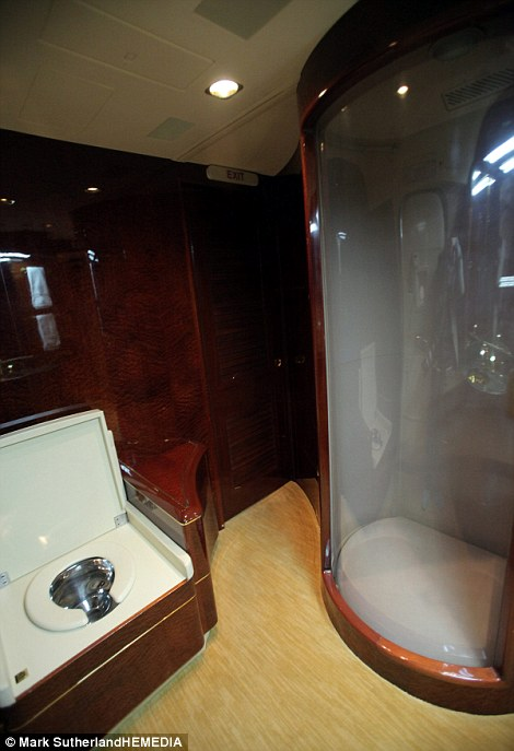 Private plane bathroom