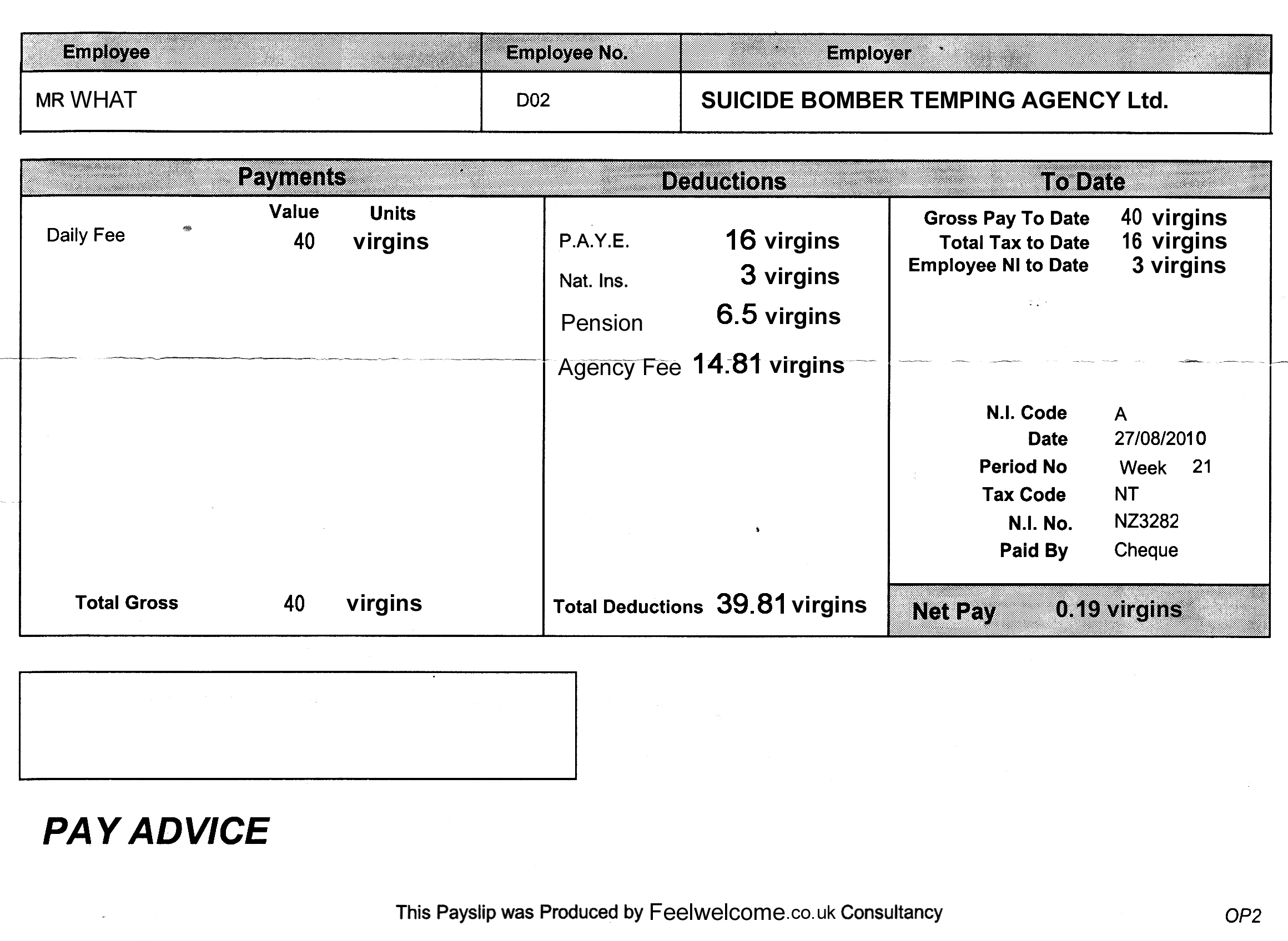 Doc735981 Payslip Template Word Payslip Templates 93 More – Online Payslip Template
