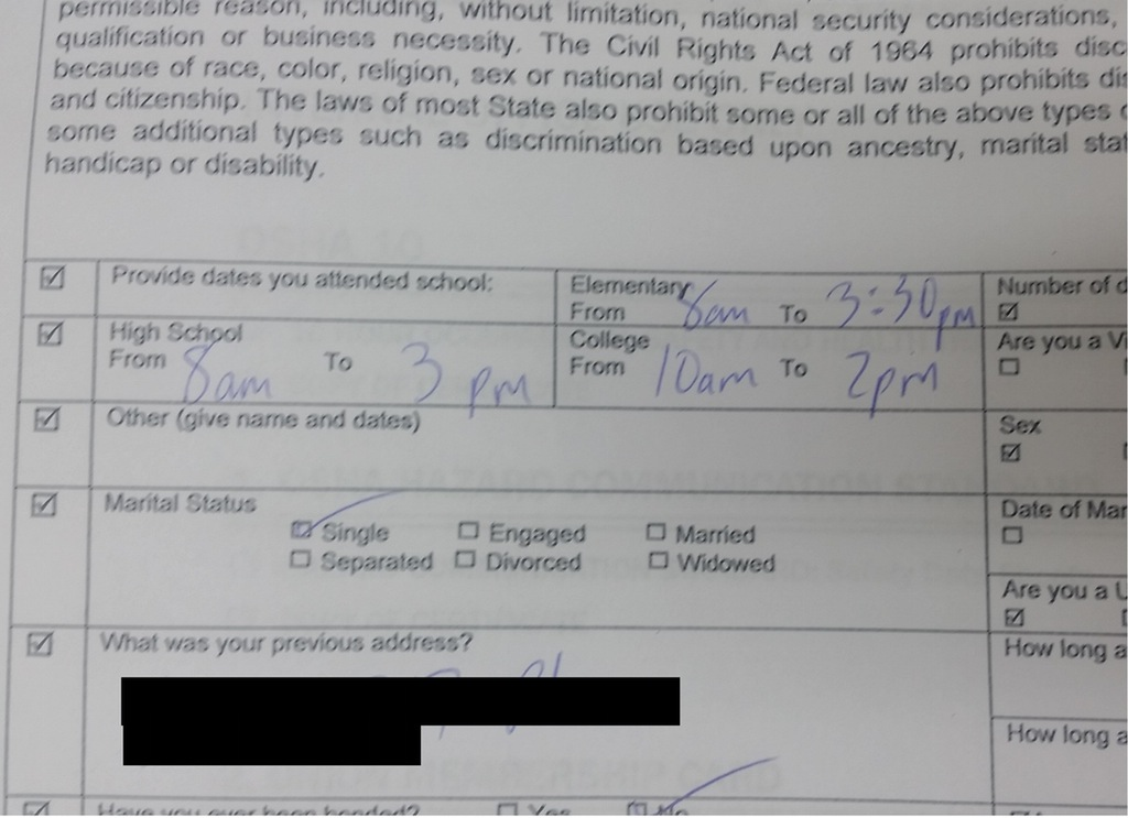 This is probably not the best way to fill out a job application The Poke