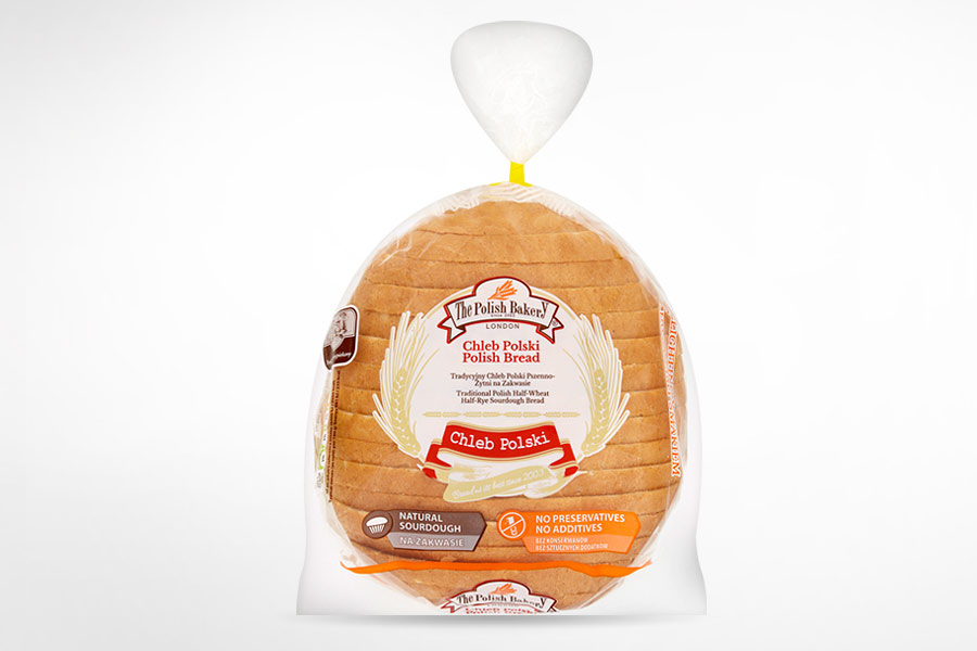 Traditional Polish Half-Wheat Half-Rye Sourdough Bread 400g
