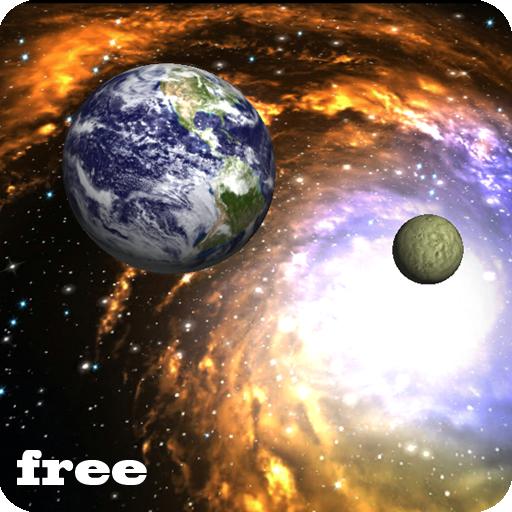 Earth And Moon 3d Wallpaper 3d Galaxy Live Wallpaper