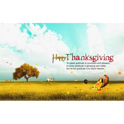 Medium Crop Of Happy Thanksgiving Message