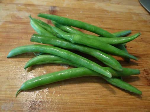 Here are my farm fresh green beans.