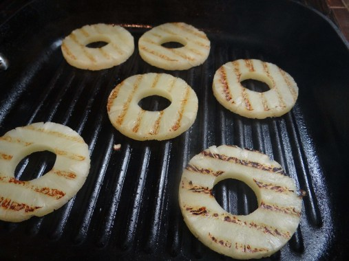 Once you have nice grill marks on both sides, remove from pan, but keep pan hot.