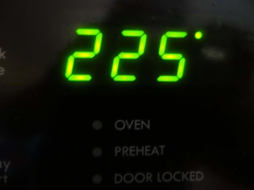 Preheat your oven to 225°F.