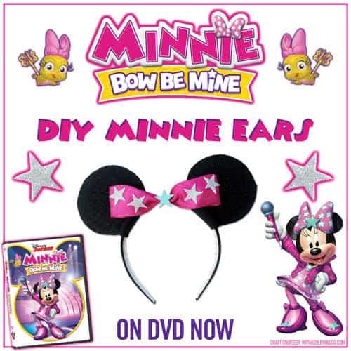 Cute DIY Minnie Mouse Ears Printable Craft! ☆ Elayna Fernandez