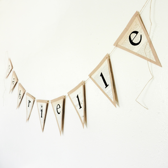 DIY Banner Tutorial | The Postman's Knock by Lindsey Bugbee