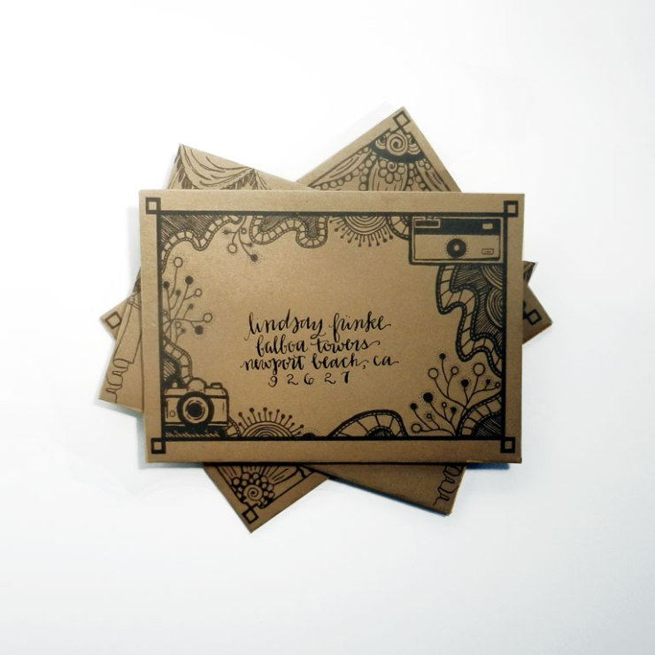 DIY Mail Art Envelope Template | The Postman's Knock
