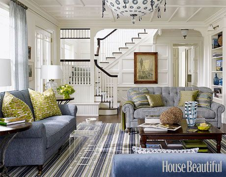 Coastal Living Room via House Beautiful